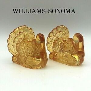Williams-Sonoma Turkey Tapper Candle Holders